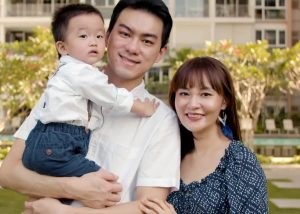 Coaching client Sher Han Lim with her family, Singapore