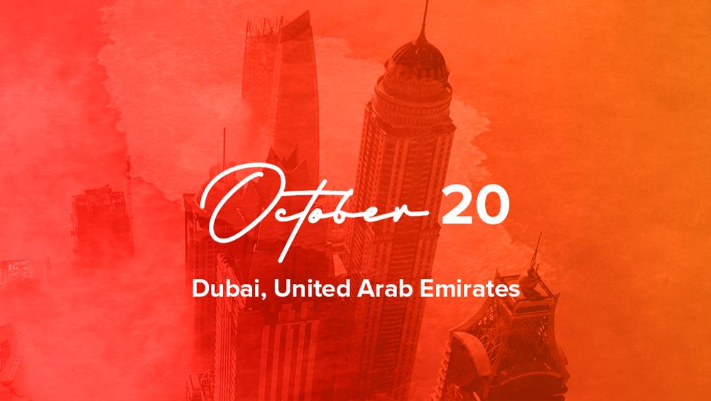 Dubai, UAE: October 20